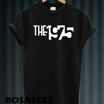 the 1975 shirt the 1975 band t-shirt printed black and white unisex size (BS-57)