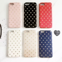 NEWEST! Luxury Ultra Slim Gold Stars Pattern Back Cover High Quality PC Phone Cases For iPhone 7/ 7Plus 4.7/5.5 Phone Protector