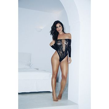 Long-Sleeved Romper Bodystocking