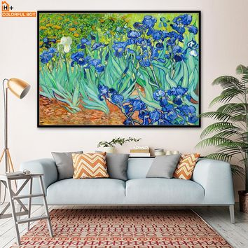 COLORFULBOY Van Gogh Classic Landscape Oil Painting Wall Pictures For Living Room Wall Art Canvas Print Poster Decor No Frame