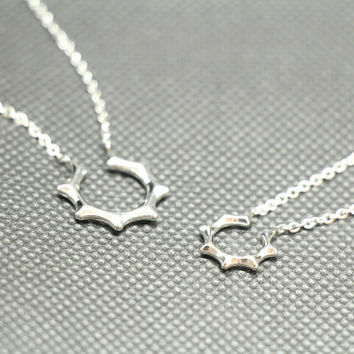 A pair of love lovers necklace,couple necklace,lovers necklace,promise necklace,silver necklace