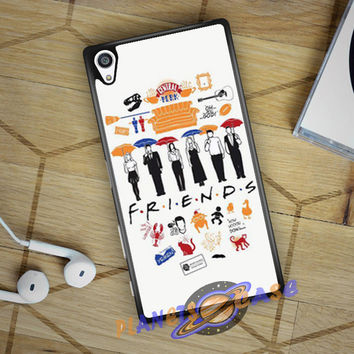 FRIENDS Collage Drawing Sony Xperia Z5 case Planetscase.com