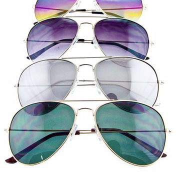 Aviator Frame Sunglasses *4 Colors