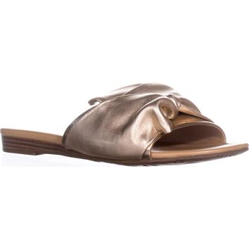Franco Sarto Gracelyn Slide Sandals, Gold, 6 US / 36 EU