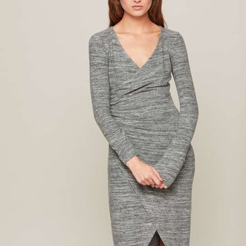 Grey Midi Wrap Dress | Missselfridge