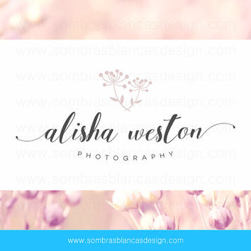 OOAK Premade Logo Design - Dried Flowers - Perfect for a floral artist or a wedding planning business