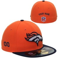 New Era Denver Broncos Men's Customized On-Field 59FIFTY Football Structured Fitted Hat