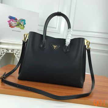 HCXX 19Aug 1004 Prada Leather Fashion Kell Bag Casual Tote Shoulder Qulited Bag 31-24-13cm