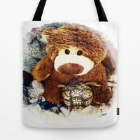 Turtle P. Turtle, Esquire and Buddy Bear Tote Bag by Art by Mel | Society6