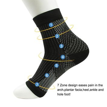 Comfort Foot Anti Fatigue women Compression socks Sleeve Elastic Men's Socks Women Relieve Swell Ankle
