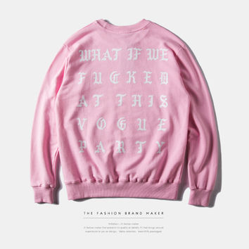 INFLATION Hip Hop Sweatshirt With Fleece Mens Kanye West Letter Hip Hop Sweatshirts Swag Solid YEEZY Hoodies For Men