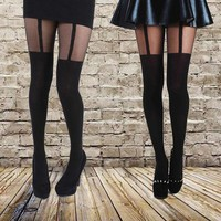 VONE05TE Mock Garter  Comfortable  Stockings  Pantyhose