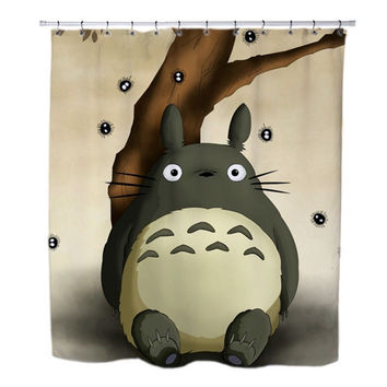Totoro under the tree custom Shower Curtains