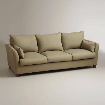 Sage Luxe 3-Seat Sofa Slipcover - World Market