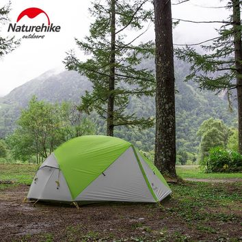 Naturehike Mongar 2018 Updated Version 2 Person Camping Tent Ultralight 20D Silicone Waterproof 2 Man Outdoor Hiking Dome Tent