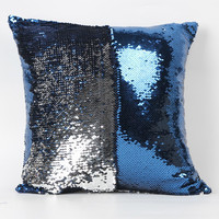 Lovely pet Free Shipping Double Color Glitter Sequins Throw Pillow Case Cafe Home present Jun28
