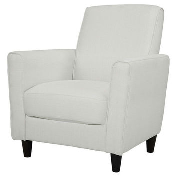 Glacier White Contemporary Upholstered Arm Chair Accent Chair