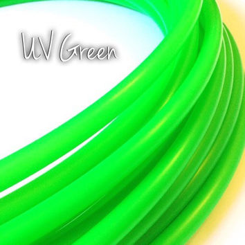 "SALE 5/8"" UV Green Colored Polypro Hula Hoop// Dance Hoop// Performance Hoop// Neon Hot Electric Bright Grass Emerald Moss Forest"