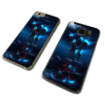 UMBREON POKEMON EEVEE CLEAR PHONE CASE COVER fits iPHONE / SAMSUNG (TH)