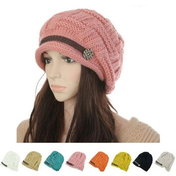 New 2014 Winter Fashion Hat For Women Toucas Vintage Lady's Caps Bone Sale Warm Girls Headwear Autumn Hat Gorro = 1958030468