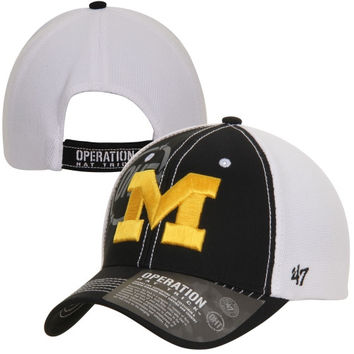 47 Brand Michigan Wolverines Operation Hat Trick Mikita Adjustable Hat - Black