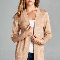 Coffee Shop Cardigan - Blush