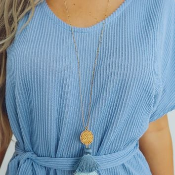 So Charming Necklace: Blue/Multi