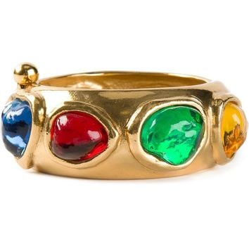 Yves Saint Laurent Vintage jewel embellished bracelet