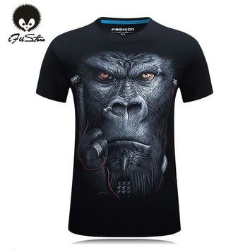 LMFYV3 20 style S-6XL 3D T-shirt Mens Hot 2016 Summer Animal Snake Tiger Wolf  Lion Printed T-shirts Men Cotton Casual Brand T shirt