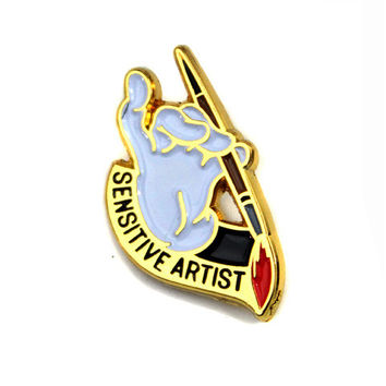 Sensitive Artist Lapel Pin