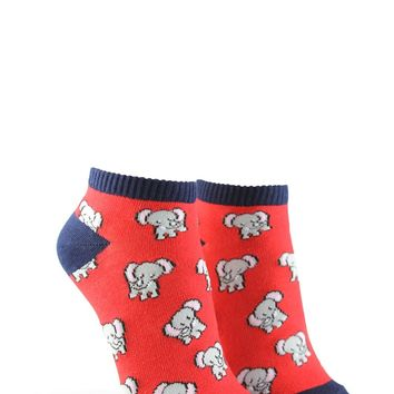 Elephant Print Ankle Socks