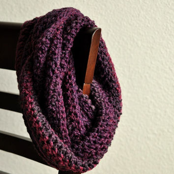 Cosmic Scarf, galaxy cowl, outerspace infinity scarf - crocheted infinity scarf cowl