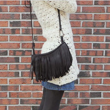 Korean Hot Sale Stylish Tassels One Shoulder Messenger Bags [6046945281]