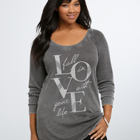 Fall In Love Burnout Sweatshirt