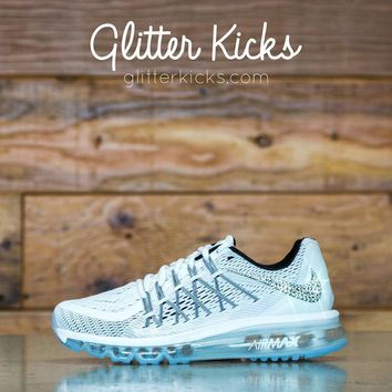 Nike Air Max 360 Running Shoes By Glitter Kicks - Customized With Swarovski Crystal Rh