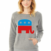 Republican Elephant ladies sweatshirt