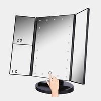 Vanity Makeup Mirror Trifold LED Lighted