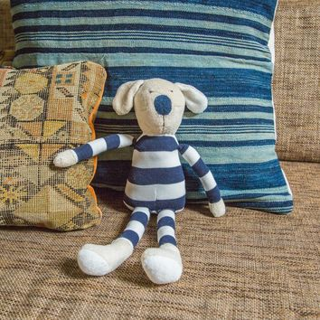 Natural Kids Toy Dog in Stripes