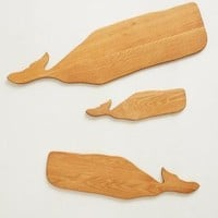 Whale Cutting Board  by Anthropologie Neutral
