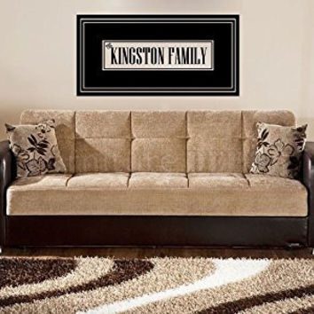 Personalized Custom Name Family Frame Vinyl Wall Words Decal Sticker Graphic