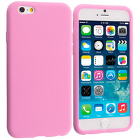 Light Pink Silicone Skin Case Cover for Apple iPhone 6 Plus (5.5)