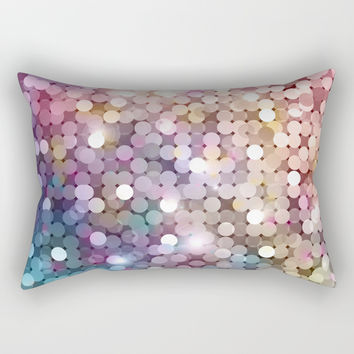 Rainbow glitter texture Rectangular Pillow by printapix