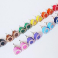 Color Pencil Ear Studs, The Triangle Version In Candy Colors | Luulla