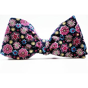 Plumbago Floral Bow Tie & Pocket Squares