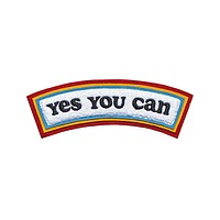 Yes You Can Rocker Chenille Back Patch