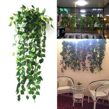 Festive And Party Supplies Garland Plants Grape Artificial Leaf Fake Foliage Flowers Hanging Decor Green PTSP