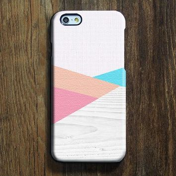 Pink Blue Wood Geometric iPhone 6s Case iPhone 6s Plus Case iPhone 6 Cover iPhone 5S 5 iPhone 5C iPhone 4/4s Galaxy S6 Edge Galaxy s6 s5 Galaxy Note 5 Phone Case 153