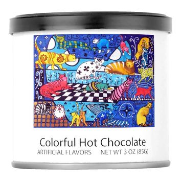 Cat Cocktail Colourful Cat Design Powdered Drink Mix