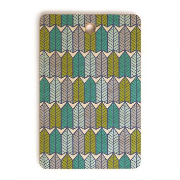 Heather Dutton Arboretum Leafy Greens Cutting Board Rectangle