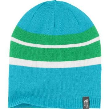 The North Face Reversible Leavenworth Girls Hat Turquoise Blue